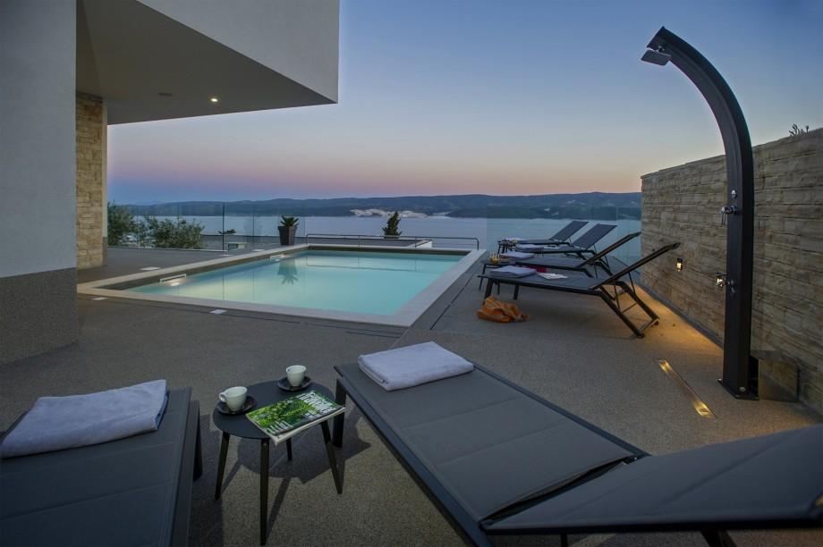 Extraordinary Villa Dispet with a heated pool, wellness, Media room